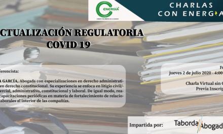 Actualización Regulatoria Covid 19