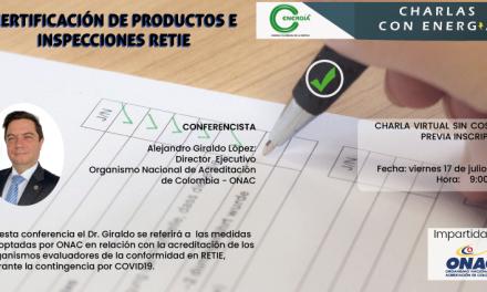 Certificación de Productos e Inspecciones Retie – ONAC